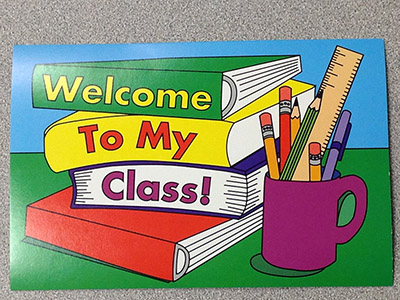 Welcome message to students